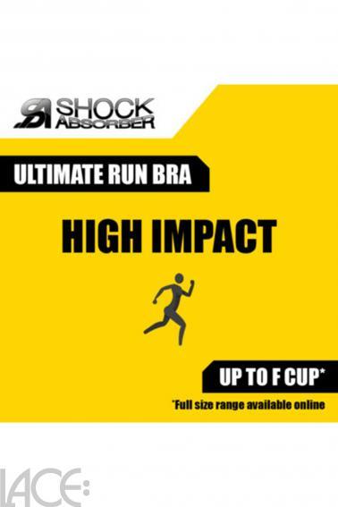 Shock Absorber - Ultimate Run Sports BH uden bøjle (E-I skål)