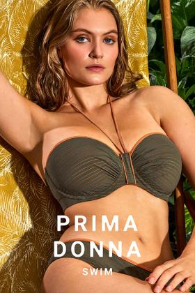 PrimaDonna Swim - Marquesas Bikini Bandeau BH med aftagelige stropper E-G skål